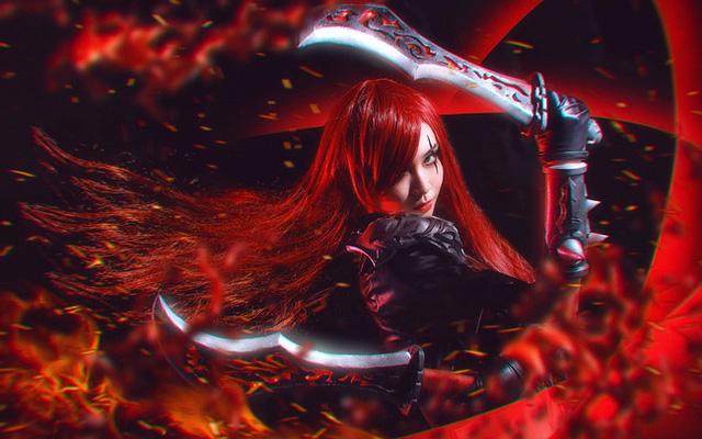 Cosplay Katarina đầy ma mị trong Liên Minh Huyền Thoại