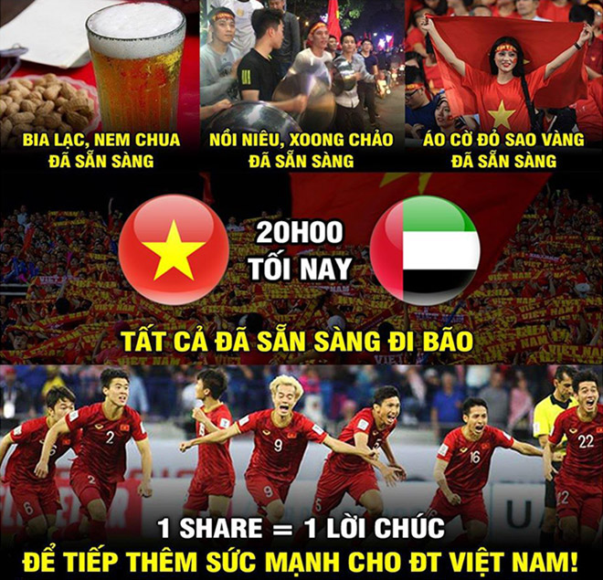 Cộng đồng mạng đã sẵn sàng cho cuộc đại chiến giữa Việt Nam và UAE