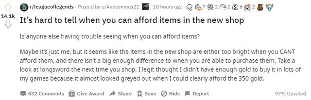 Giao diện cửa hàng mới quá khó nhìn khiến Riot Games bị cộng đồng LMHT ném đá kịch liệt