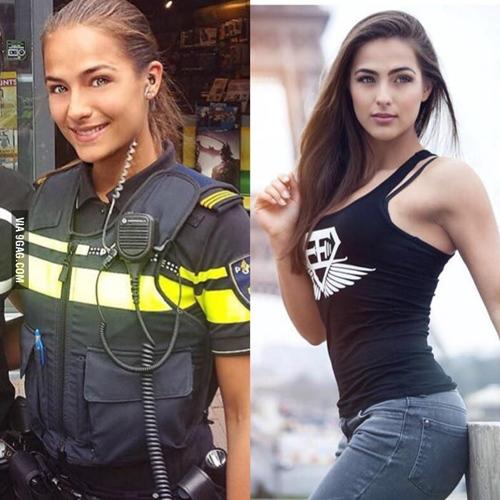 """Nữ cảnh sát sexy khiến cộng đồng mạng """"phát sốt"""""""