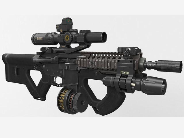 Uy lực khủng khiếp của khẩu súng tự động có trong game Half-Life