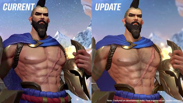 Mặc kệ loạt skin Tết Nguyên Đán ra mắt, game thủ Liên Minh: Tốc Chiến vẫn phát cuồng vì… chỏm lông ngực của Pantheon