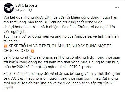 SBTC Esports ở lại VCS, những cái tên nào sẽ đến và đi?
