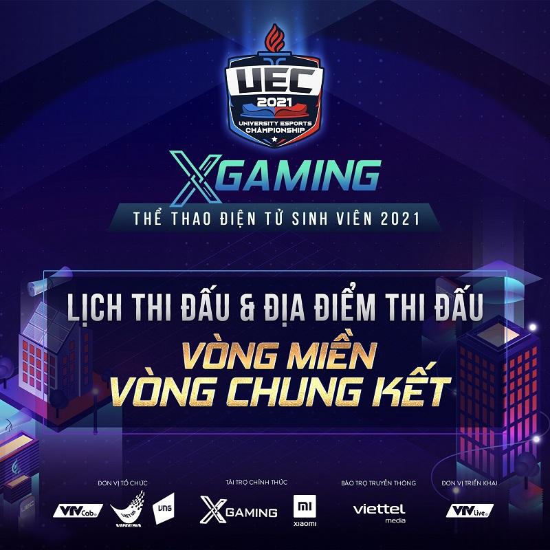 XGaming – UEC 2021: Cập nhật địa điểm thi đấu 3 miền!