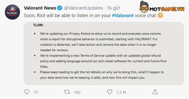 Valorant: Riot quyết định xử lý triệt để vấn đề toxic trong voice chat?