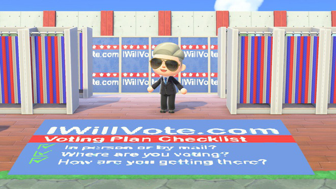 Ông Joe Biden tranh cử trong game Animal Crossing