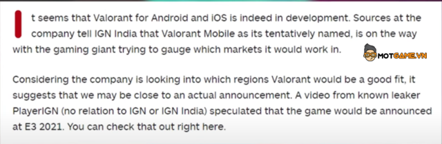 Valorant Mobile: Lộ tin đồn Riot Games chuẩn bị tung phiên bản di động