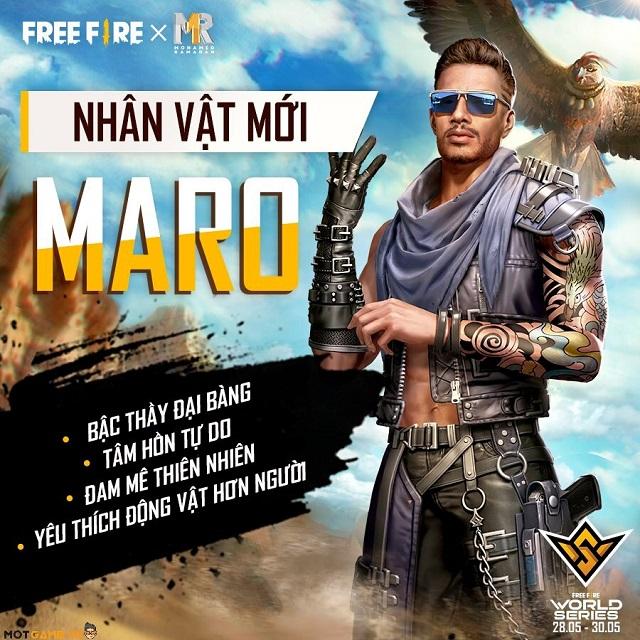 Hướng dẫn combo kỹ năng kết hợp với nhân vật Maro của Free Fire
