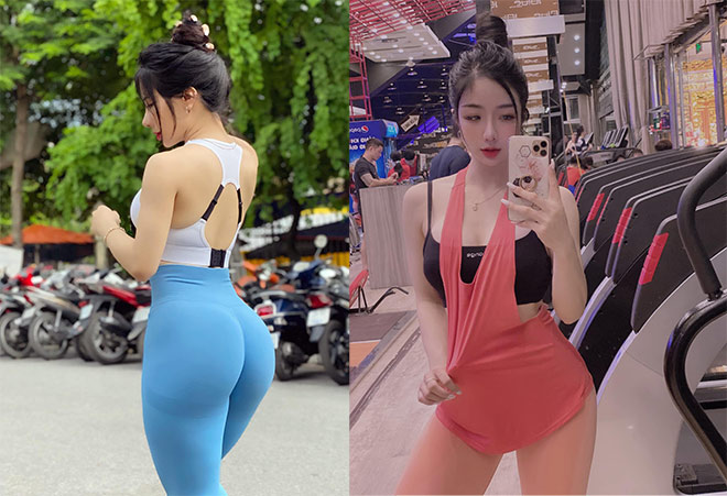 Hot girl tập gym Phạm Hồng Nhung vòng ba gần 100cm nhờ nâng tạ 160kg