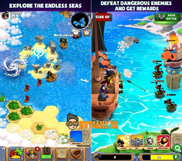 Pirate's Destiny – game chiến thuật đánh chiếm theo phong cách Hải Tặc