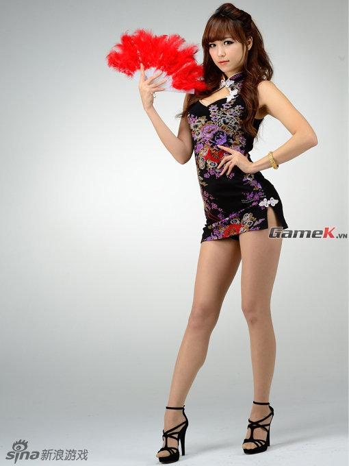Chùm ảnh tuyệt đẹp của chân dài Hàn Quốc trong trang phục Trung Quốc