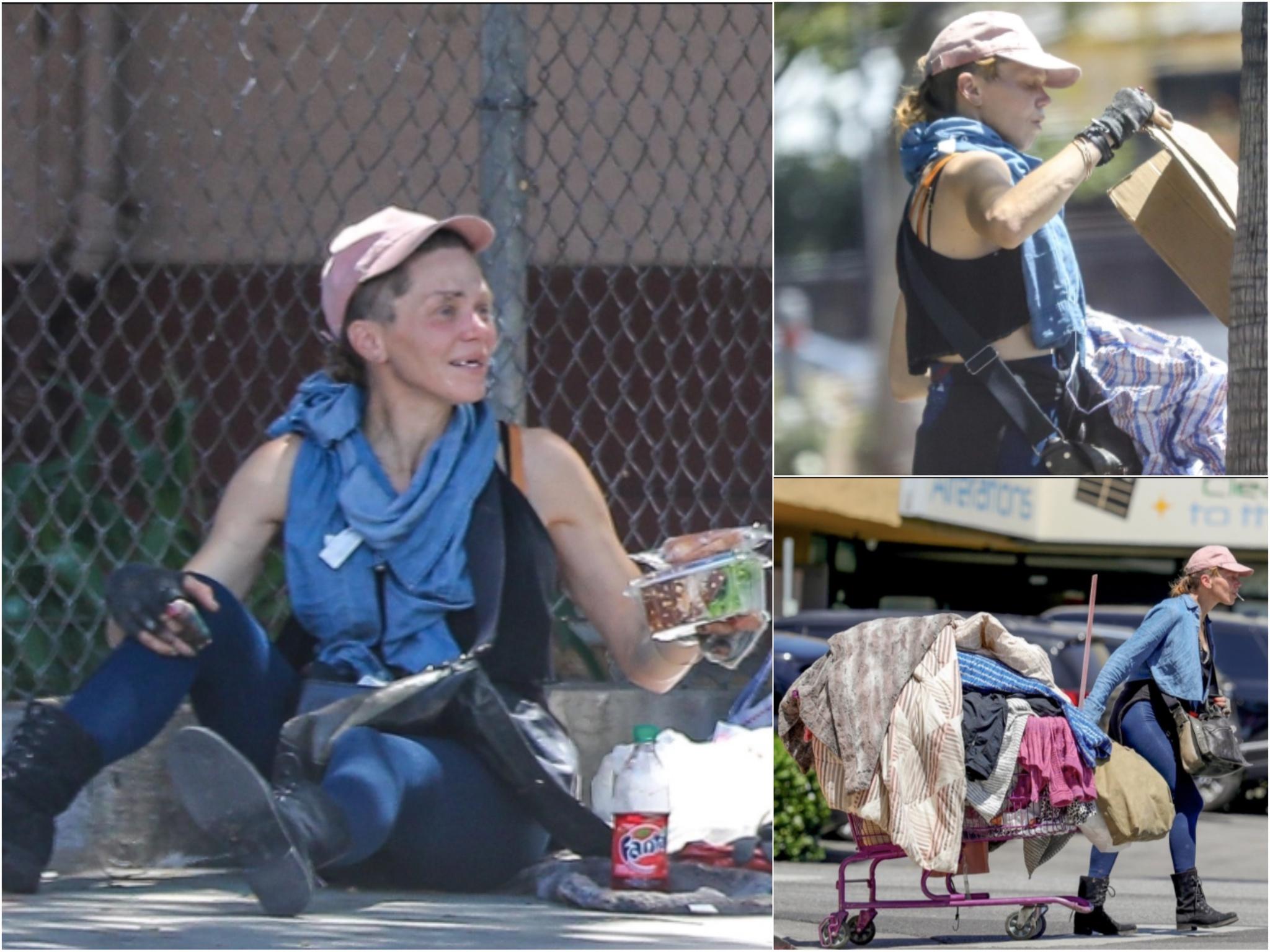 Cựu người mẫu thành người vô gia cư, lê lết khắp đường phố kiếm sống