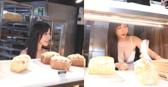 """Hot girl diện váy xẻ ngực đứng bán bánh khiến dân tình suýt xoa: """"Làm nghề này quá phí"""""""
