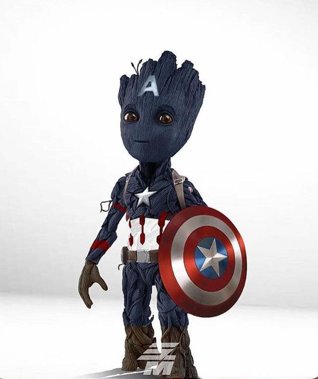 """Chiêm ngưỡng loạt ảnh khi """"bé Groot"""" cosplay lại phong cách của các siêu anh hùng"""