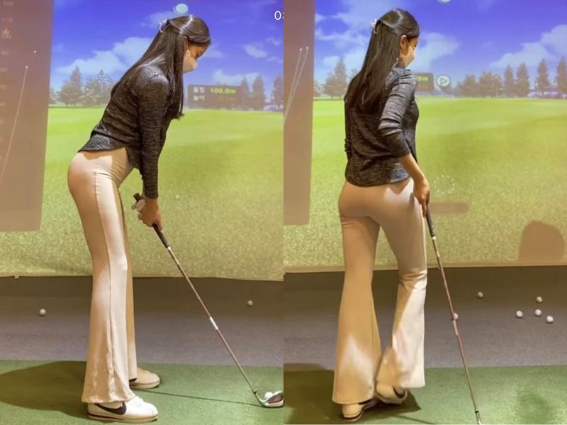 Cô gái gây sốt khi mặc quần nude chơi golf hóa ra là người mẫu có body hoàn mỹ
