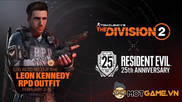 The Division 2 kỷ niệm Resident Evil 25 tuổi bằng sự kiện crossover đặc biệt