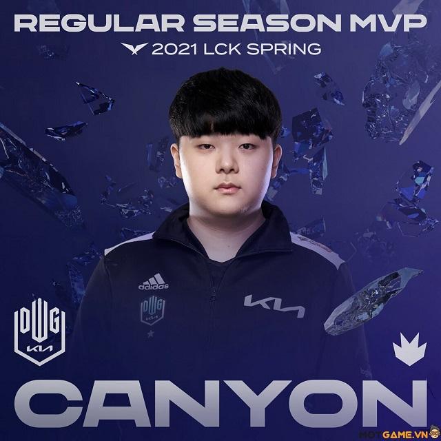 DK Canyon nhận danh hiệu MVP LCK Mùa Xuân 2021