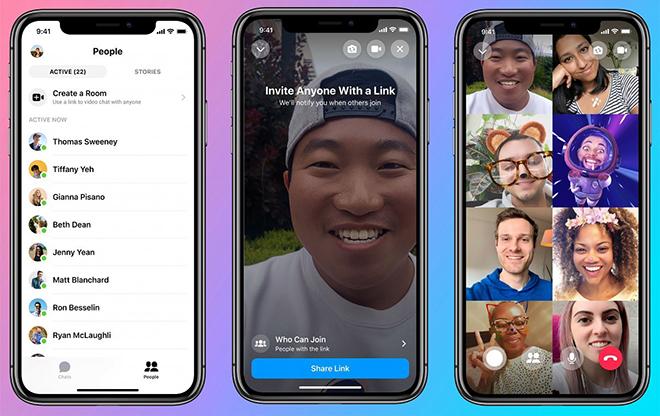 Facebook chính thức áp dụng Messenger Rooms với sức chứa lên tới 50 người