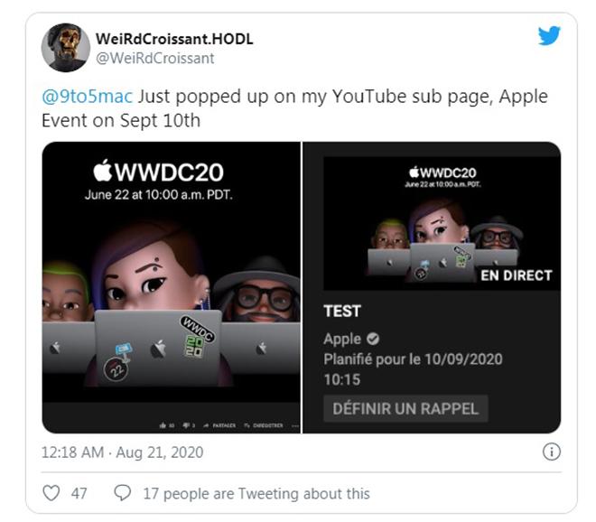 HOT: Thời gian công bố iPhone 12 bị lộ trên kênh Youtube của Apple