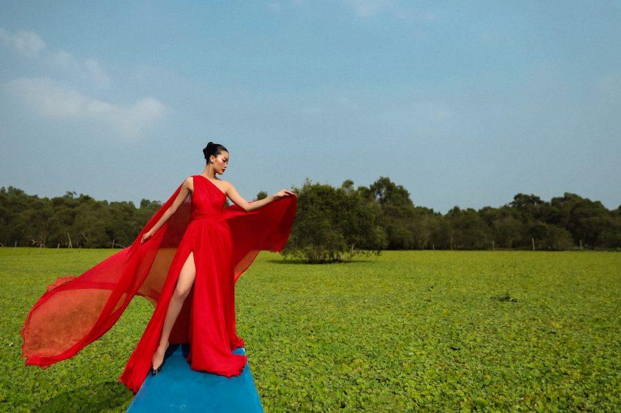 Người mẫu An Giang biến hóa uyển chuyển trong bộ ảnh thời trang tại quê hương