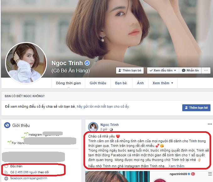 Ngọc Trinh gây sốc tạm đóng Facebook để làm điều này, dân mạng nói gì?