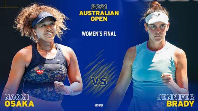 Trực tiếp tennis Osaka – Brady: Game trắng để ẵm cúp (Chung kết Australian Open) (Kết thúc)