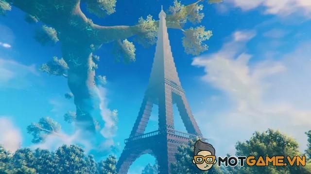 Kinh ngạc khi người chơi Valheim xây hẳn tháp Eiffel trong game