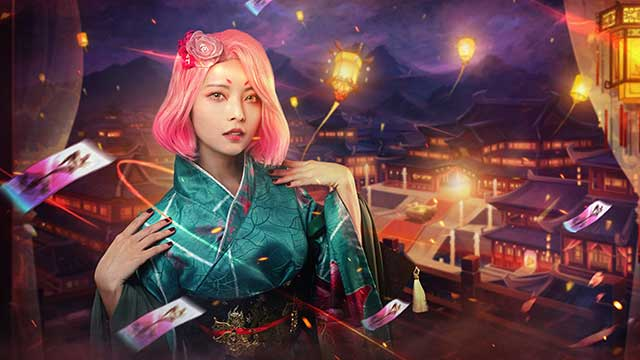 Yu Dươngthần thái trong bộ cosplay Phụng Tước của Tuyết Ưng VNG