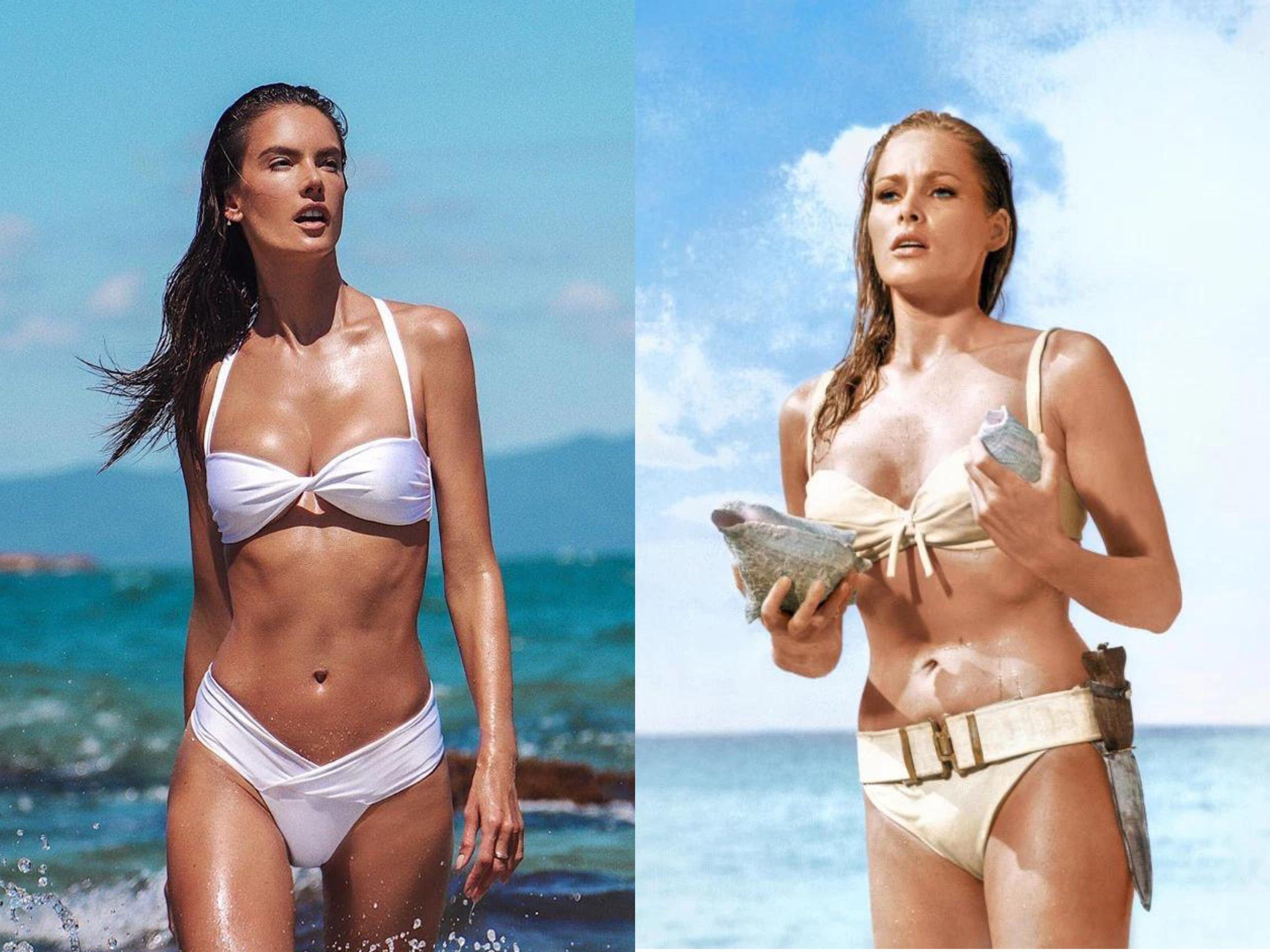 Siêu mẫu cosplay khoảnh khắc diện bikini kinh điển của Bond Girl