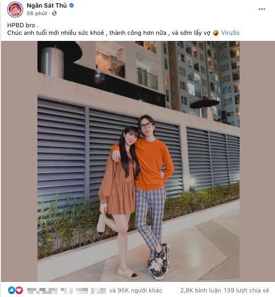 Đào lại ảnh chúc mừng sinh nhật bạn trai cũ của Ngân Sát Thủ, MisThy bình luận một câu chí mạng về tương lai mối quan hệ cặp đôi này