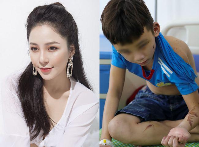 Hot girl Trâm Anh nói điều bất ngờ về cậu bé bị chủ quán bánh xèo bạo hành