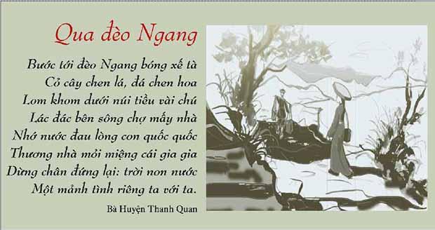 """Top 10 Bài văn phân tích bài thơ """"Qua đèo ngang"""" của Bà Huyện Thanh Quan hay nhất"""