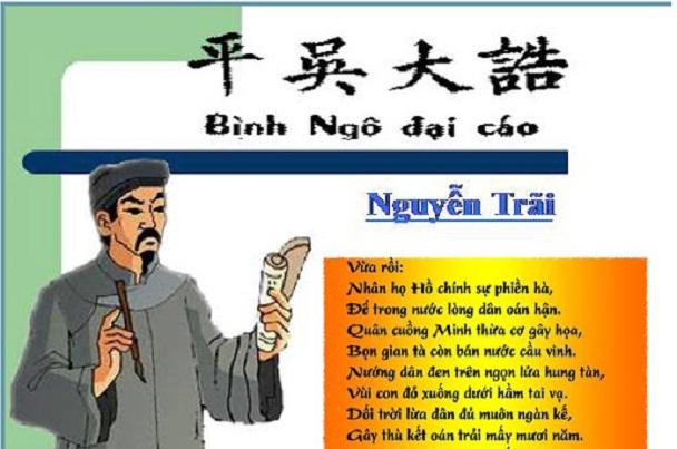 """Top 10 Bài văn phân tích tư tưởng nhân đạo trong """"Đại cáo bình Ngô"""" của Nguyễn Trãi"""