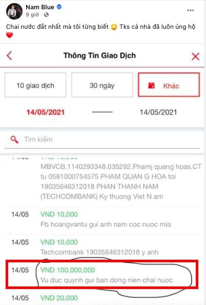 """""""Đứng hình 5 giây"""", Nam Blue được fan cứng """"mạnh tay"""" donate 100 triệu đồng"""