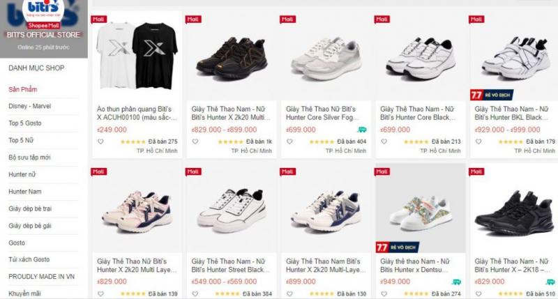 Top 7 Shop bán giày trên shopee đẹp và uy tín