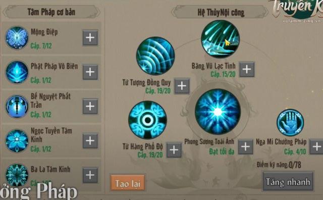 Hướng dẫn cách cộng kỹ năng, tiềm năng VLTK 1 Mobile