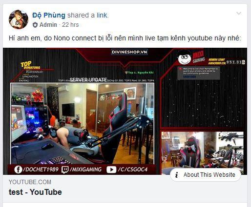 Sau vài ngày 'du mục' Độ Mixi đành phải dùng kênh Youtube phụ để livestream