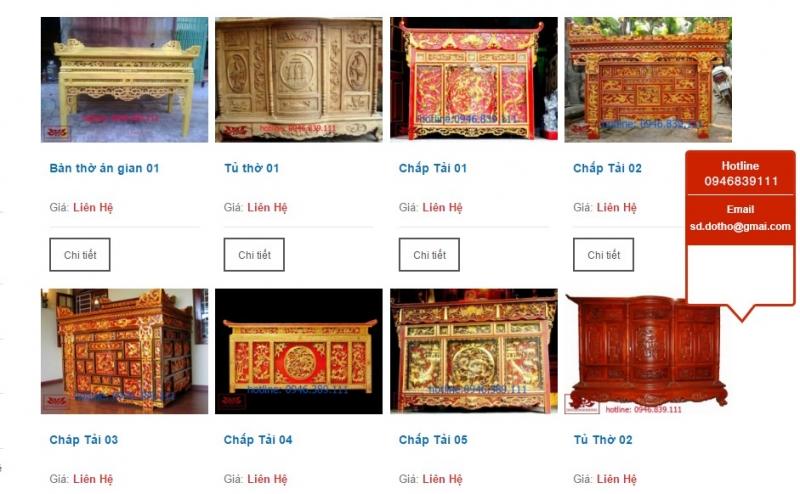 Top 10 địa chỉ mua bàn thờ đẹp và uy tín nhất Hà Nội