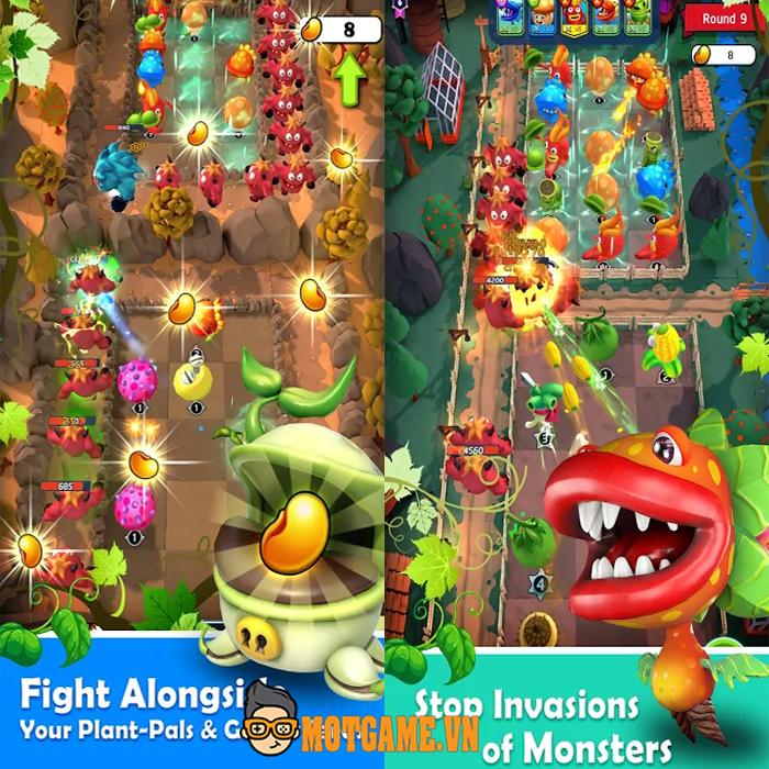 Crazy Plants – Game thủ tháp với các nhân vật tạo hình kiểu thực vật ngộ nghĩnh