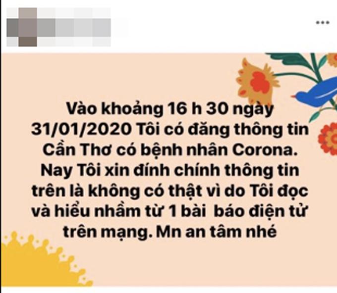 Đăng sai về virus Corona trên Facebook, nữ bác sĩ ở Cần Thơ bị mời làm việc