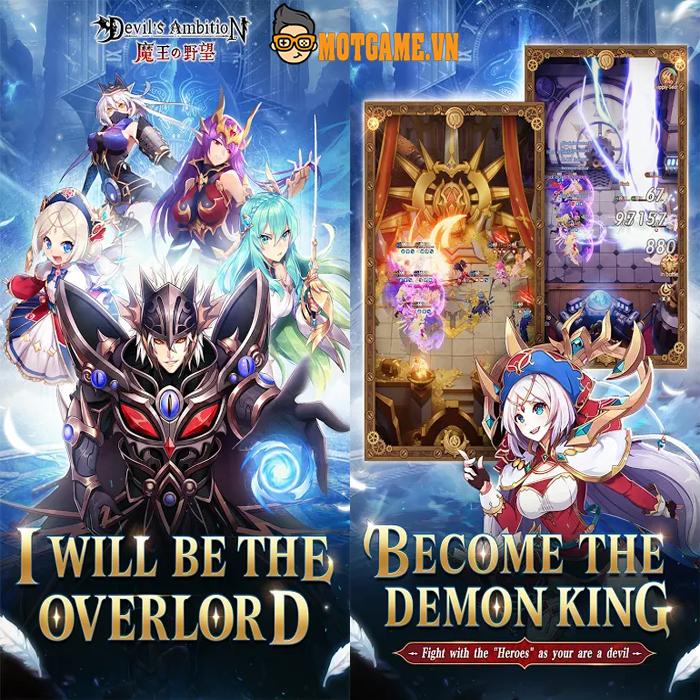 Devil's Ambition – Hóa thân thành Ma vương để trải nghiệm game chiến thuật theo phong cách anime