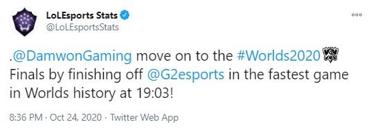 Bại trận cũng phải theo kiểu 'lưu danh thiên cổ', G2 Esports xác lập kỷ lục ván thua nhanh nhất lịch sử CKTG