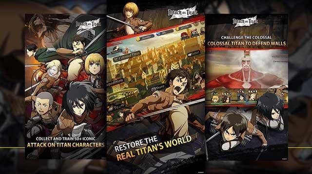 """Những game Titan mobile """"chính hãng"""" của bộ truyện tranh Attack on Titan"""