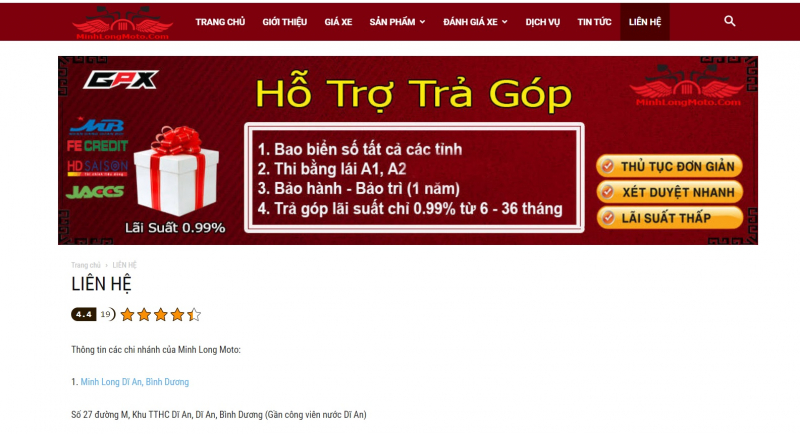 Top 5 địa chỉ mua xe máy trả góp uy tín nhất ở TP. Hồ Chí Minh
