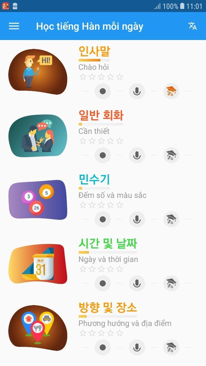 Top 10 ứng dụng học tiếng Hàn hay nhất trên android