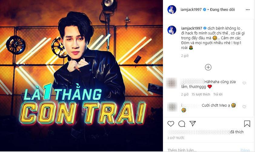 """Vừa tái xuất với MV mới, Jack bức xúc vì bị hacker tiễn """"bay màu"""" facebook cá nhân"""