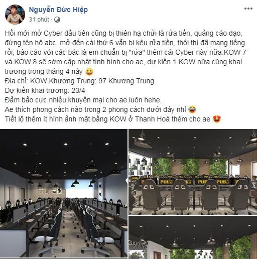 """Hai năm trời mang tiếng """"rửa tiền, quảng cáo dạo"""", KingOfWar đáp trả hùng hồn bằng tuyên bố tiếp tục khai trương cơ sở mới"""