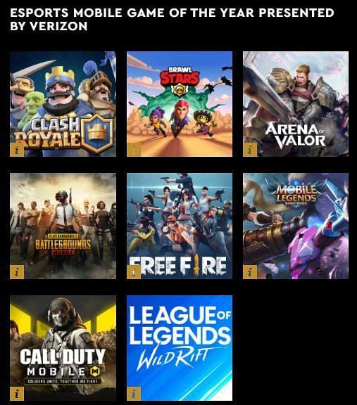 LMHT: Tốc chiến, Liên quân, Free Fire được đề cử Game di động của năm tại eSports Awards 2021