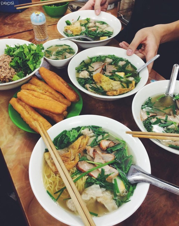 Top 10 địa chỉ ăn mỳ vằn thắn ngon nhất  tại Hà Nội