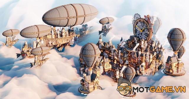"""Ngắm nhìn thành phố Minecraft phong cách """"steampunk"""" cực chất xây dựng trong nhiều tháng"""